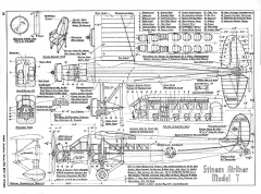 Stinson Airliner Model-T model airplane plan
