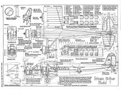 Stinson Airliner Model-T model airplane plan