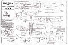 Aeropiccola Stinson model airplane plan