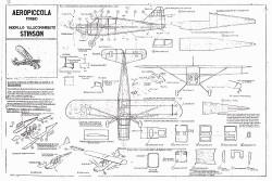 Aeropiccola Stinson model airplane plan