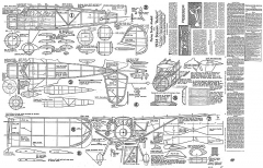 Stinson Reliant 25in model airplane plan