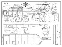 Stinson Reliant 26in model airplane plan