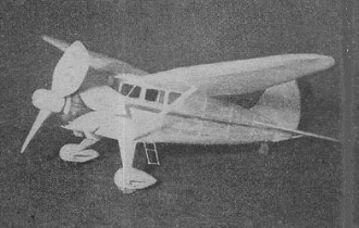 Stinson Reliant model airplane plan