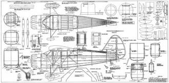 Stinson SR-10 model airplane plan