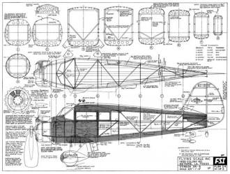 Stinson SR-6 model airplane plan