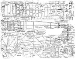 Stinson S model airplane plan