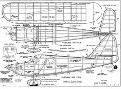 Stinson Voyager model airplane plan