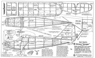 Stinson Voyager Flyline model airplane plan