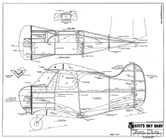 Stits Sky Baby RCM-1317 model airplane plan