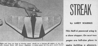 Streak model airplane plan