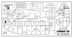 Stribrny model airplane plan