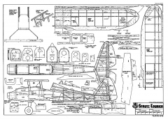 Strutz Courier RCM-1249 model airplane plan