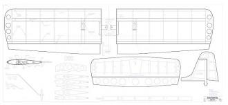 Stunt Trainer 25e model airplane plan