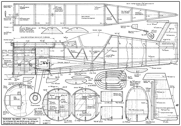 Sukhoi SU26-M model airplane plan