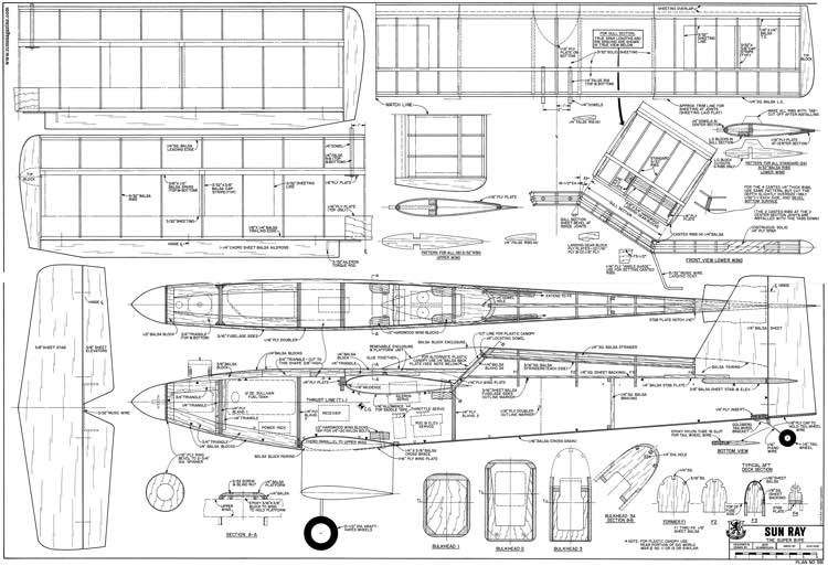 Sun Ray model airplane plan