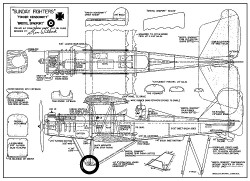 Sunday Fighters model airplane plan