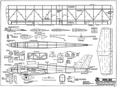 Super Chip RCM-477 model airplane plan