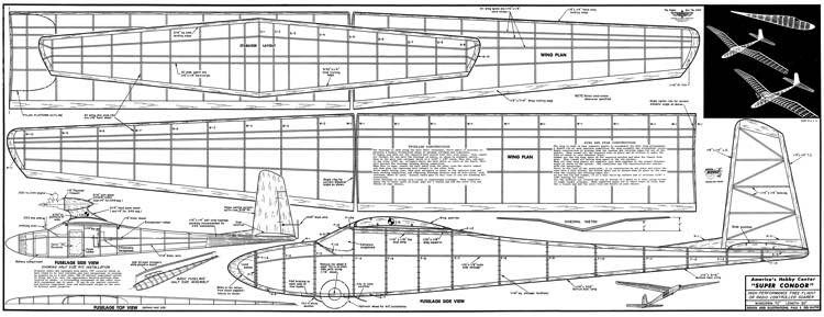 Super Condor model airplane plan