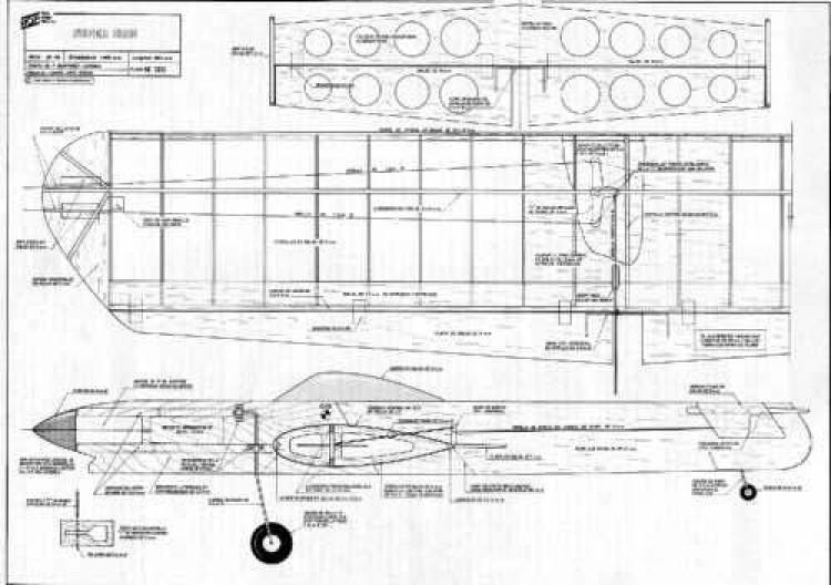Super Cris model airplane plan