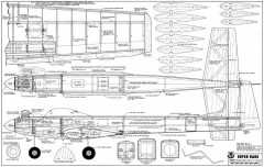 Super Kaos model airplane plan
