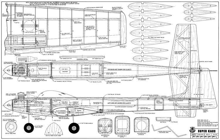 Super Kaos model airplane plan