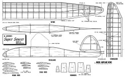 Super Saucer model airplane plan