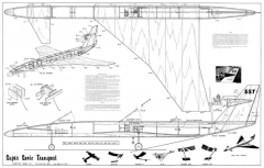 Super Sonic Transport model airplane plan