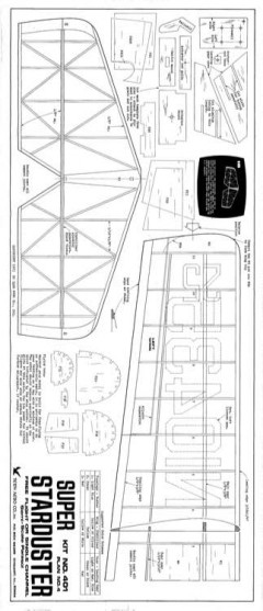 Super Starduster model airplane plan