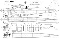 Super Tiger model airplane plan