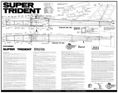 Super Trident model airplane plan