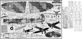 Supermarine Spitfire 2 model airplane plan