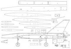 Supersonic RC model airplane plan