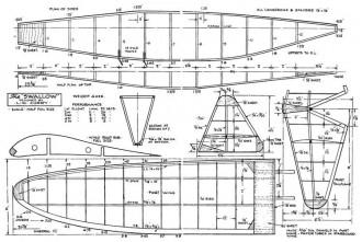 Swallow glider model airplane plan
