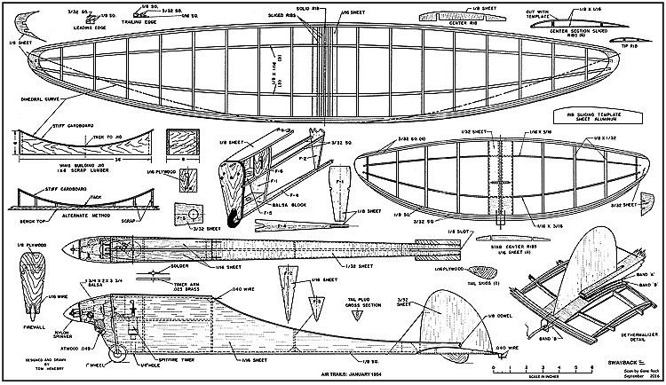 Swayback model airplane plan