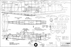 Swiss C-3603 45in model airplane plan