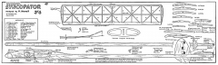 Syncopator 55in glider model airplane plan