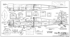T-170 100in RCM-945 model airplane plan