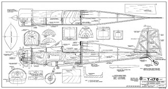 T-170 model airplane plan