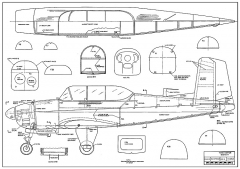 T-34B Mentor AAM model airplane plan