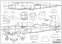 T-34B Mentor model airplane plan