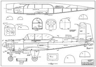 T-34B Mentor model airplane plan