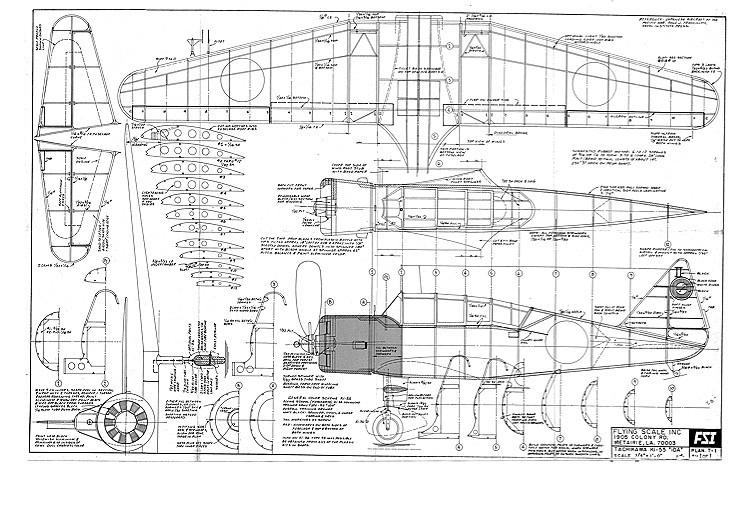 Tachikawa Ki-55 Ida FSI model airplane plan