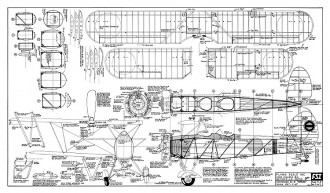"Tachikawa Ki-9 ""Spruce"" model airplane plan"