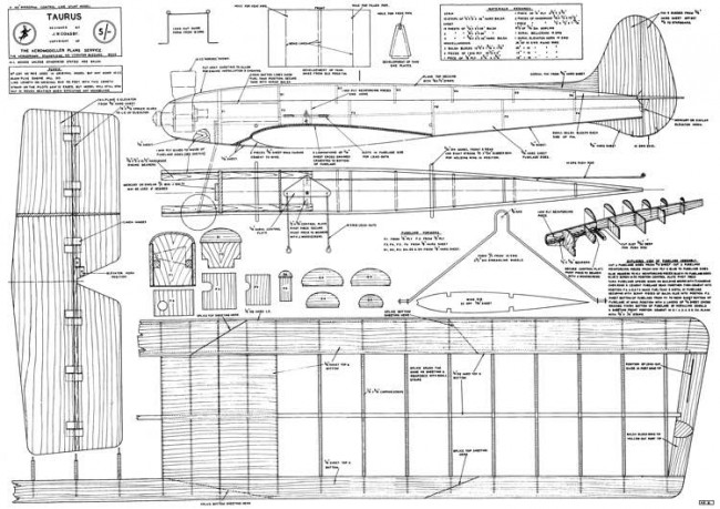 Taurus model airplane plan