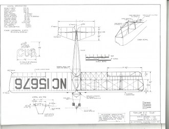 Taylor E2 Cub model airplane plan