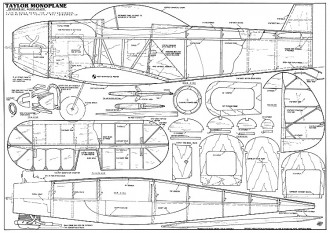 Taylor Monoplane model airplane plan
