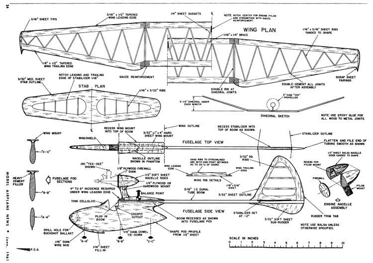Tee Dee Bird model airplane plan
