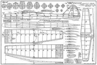 Halifax Tern model airplane plan