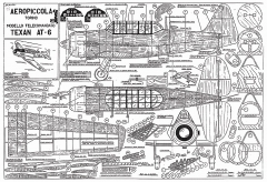 Texan AT-6 Aeropiccola model airplane plan
