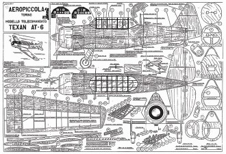 Texan AT-6 Aeropiccola model airplane plan